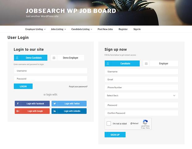 Register - JobSearch WordPress Plugin