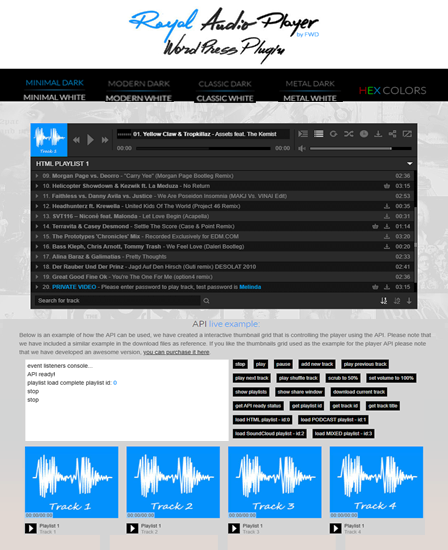 Royal Audio player WordPress plugin thumb