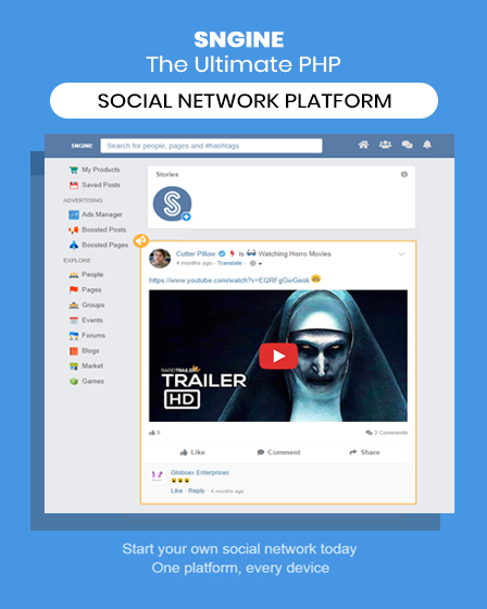 social network php script