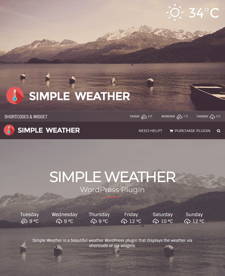 Simple Weather WordPress Plugin