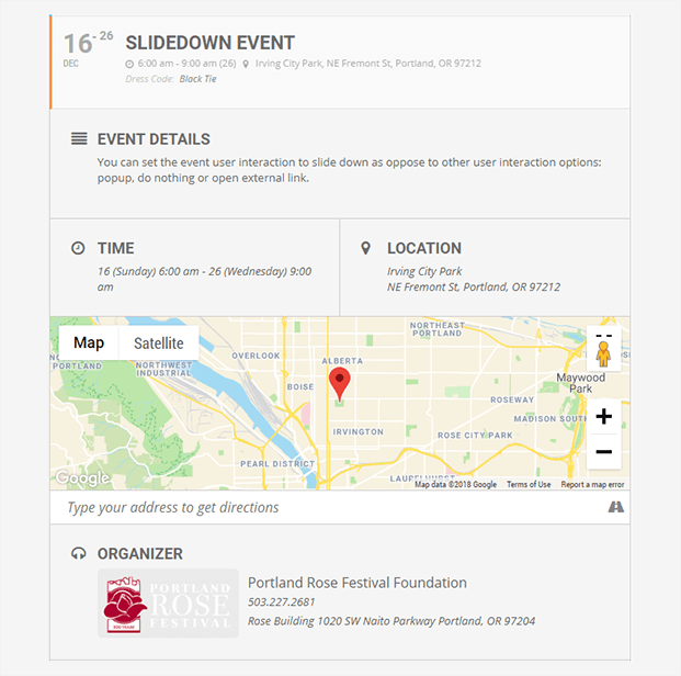 EventOn Calendar Plugin - Slidedown event