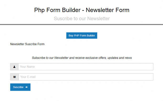 PHP Form Builder Script