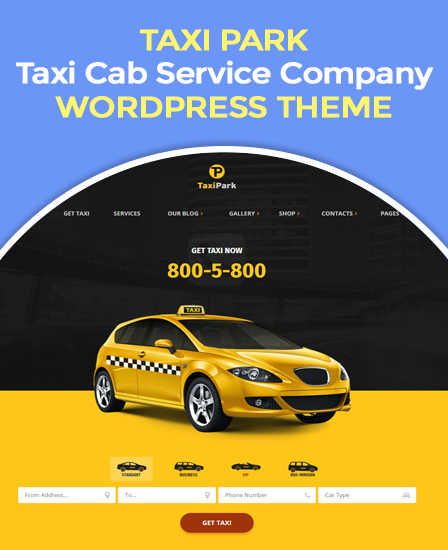 Taxi Park WordPress Theme