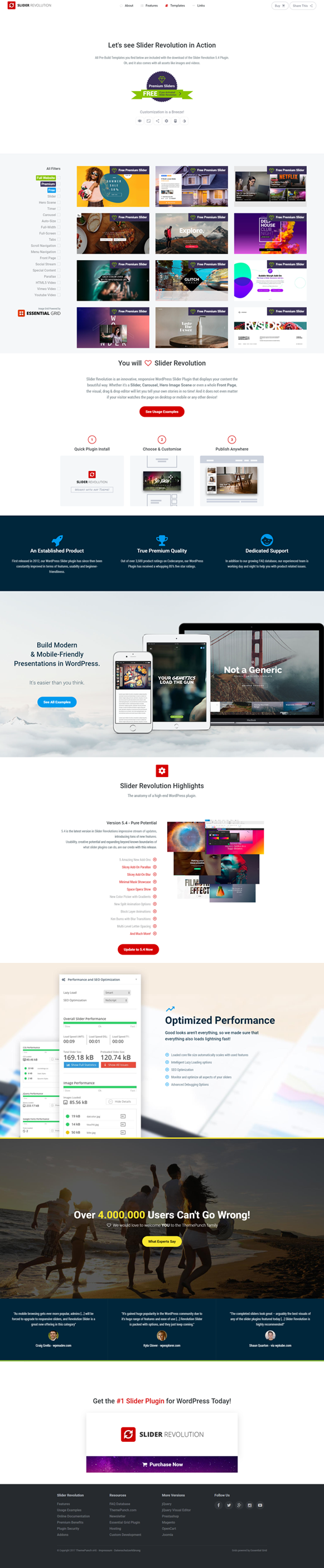 Templates - Slider Revolution WordPress Plugin