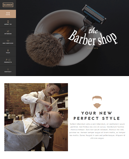 The Barber Shop - WordPress Theme For Hair Salon & Stylist
