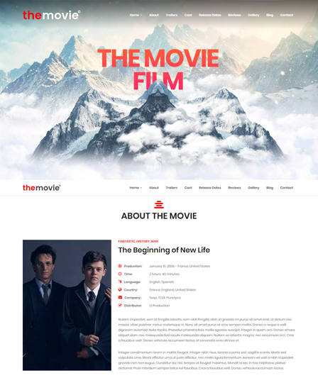 Film WordPress Theme