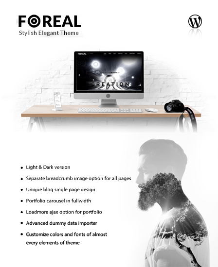 Dark And White WordPress Theme