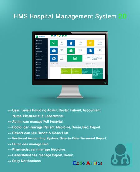 advanced hospital management php script