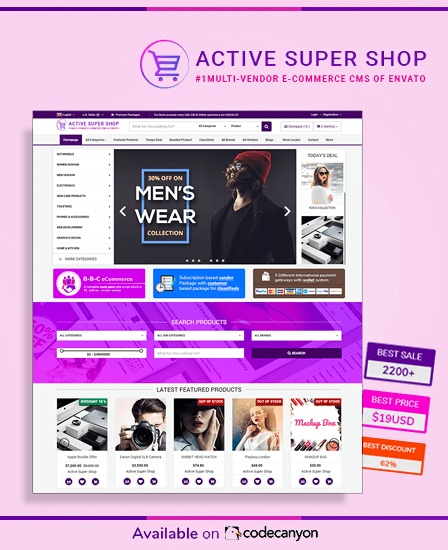 Active Super Shop - Multi Vendor PHP Script