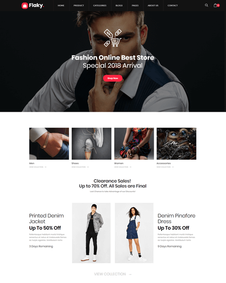 Flaky - Advanced Online Shop WordPress Theme