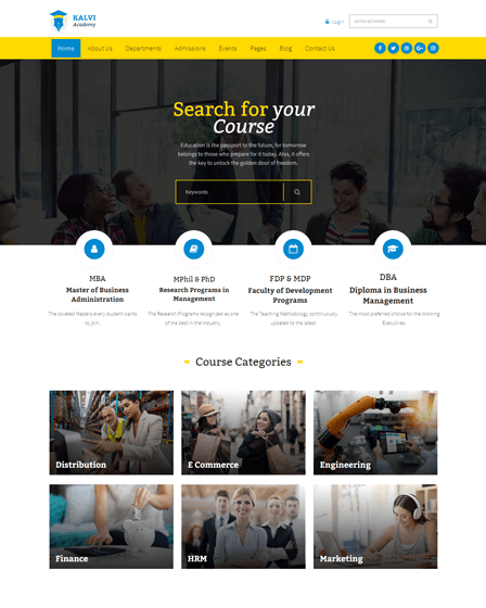 Kalvi - Learning Management WordPress Theme