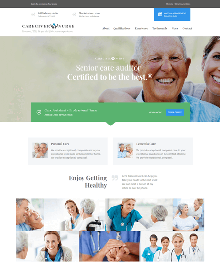 Senior Health WordPress Theme