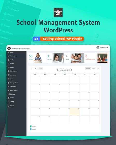 School Management WordPress Plugin