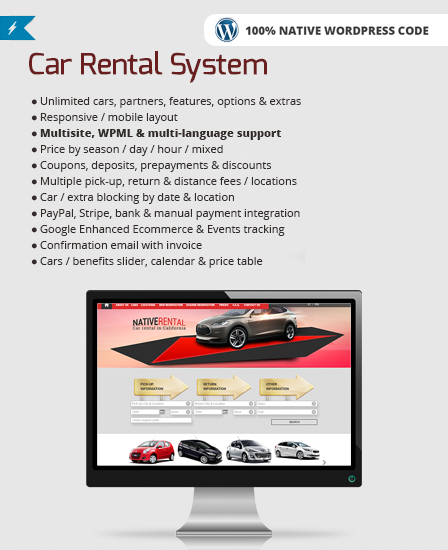 Car Rental WordPress Plugin
