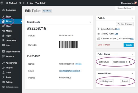 Edit Ticket - FooEvents Event Ticket Plugin