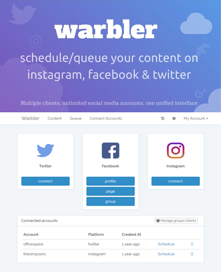 Warbler - Post Scheduling PHP Script
