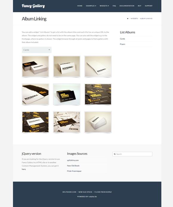 Widgets - Fancy Gallery WordPress Plugin