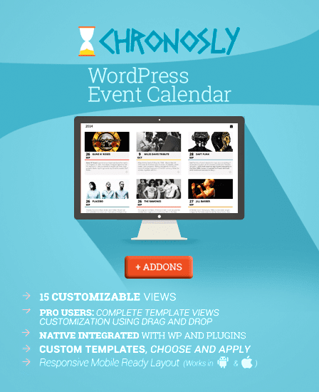 Chronously - Event Calender WordPress Plugin