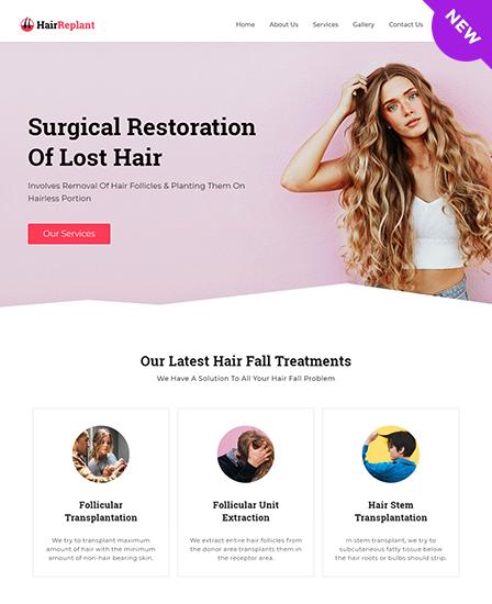 Hair Replant WordPress Theme