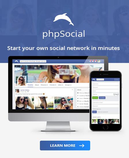 phpsocial home