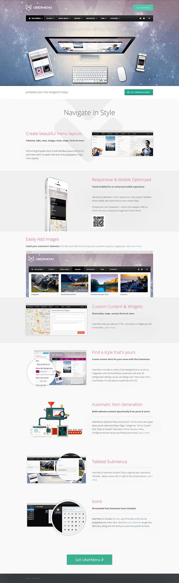 UberMenu WordPress Plugin - Home