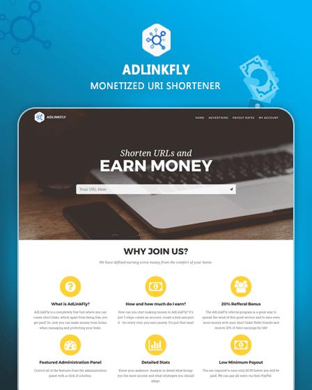 AdLinkFly - URL Shortener PHP Script
