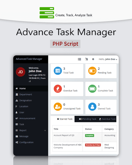 Task Manager PHP Script