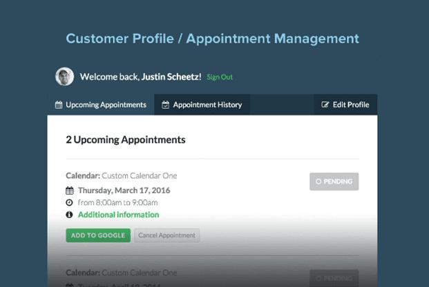 Custom Profile - Appointment Booking WordPress Plugin