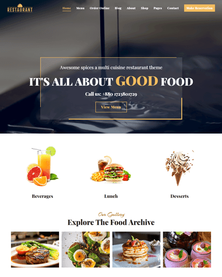 Restaurant - Best Cafe & Restaurant WordPress Theme