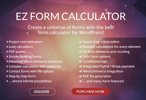 WordPress Calculator Plugin - EZ Form