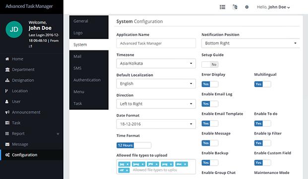 Task Manager PHP Script