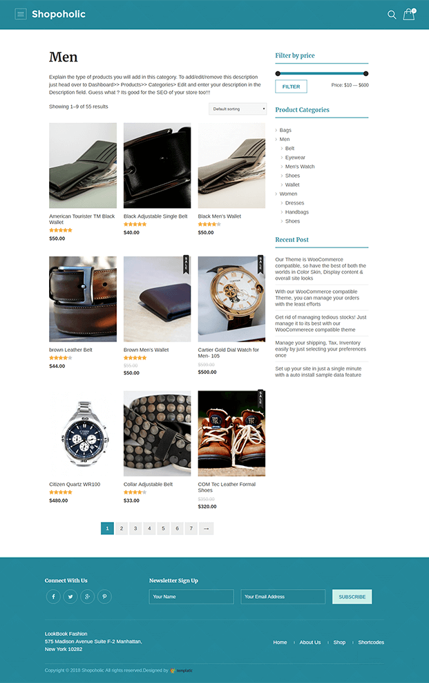 Men's Wear Shop Page