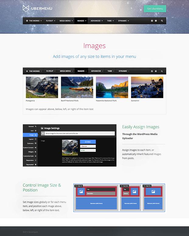 UberMenu WordPress Plugin - Add Images Option