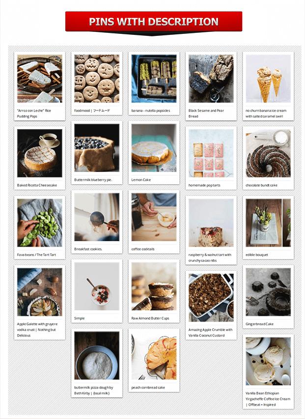 Pinterest To WordPress Plugin - Pins With Description