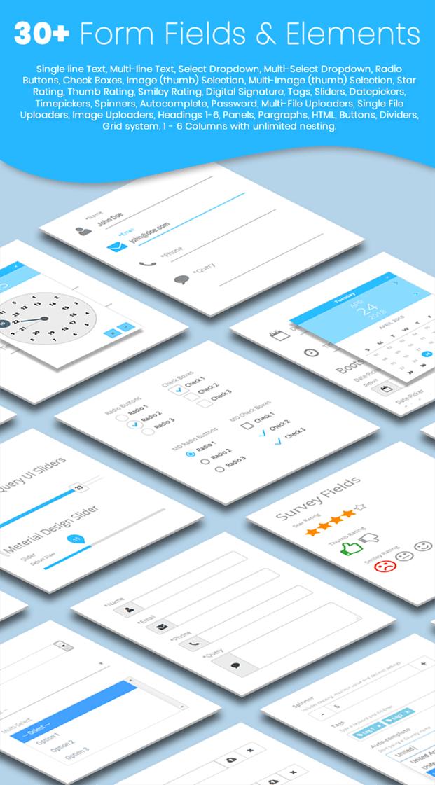 30+form field - Form Builder Plugin For WordPress
