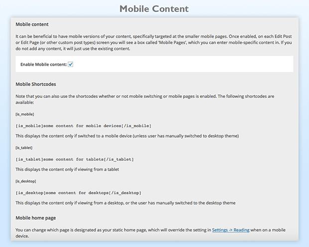 Mobile Smart Pro Plugin - Edit Mobile Content Section
