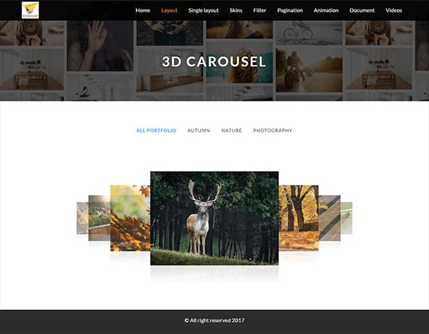 3D Carousel - Portfolio WordPress Plugin