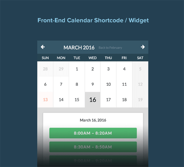 Front-End Calendar - Appointment Booking WordPress Plugin