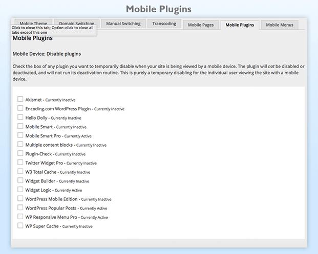 Mobile Smart Pro Plugin - Mobile Plugins