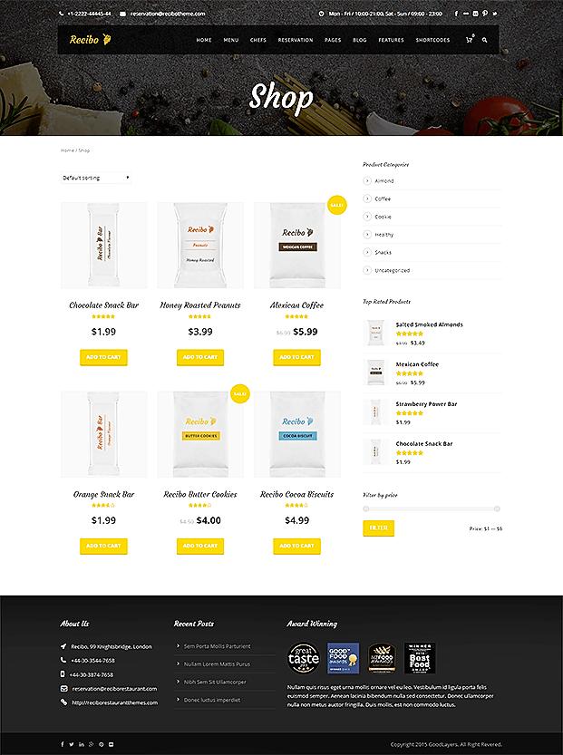 Online Shop Page