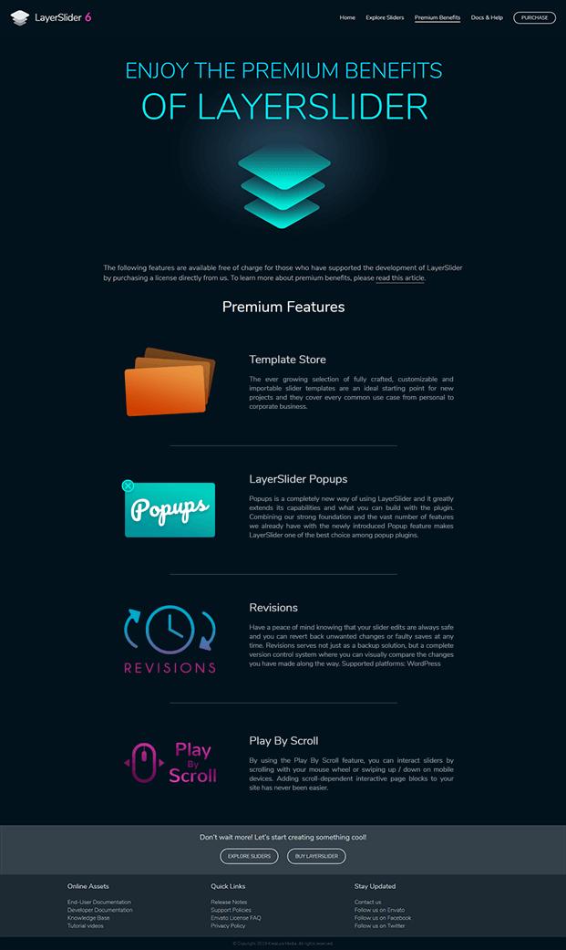 LayerSlider WordPress Plugin - Premium Features