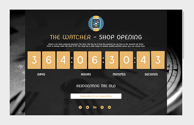 Watcher Shop Opening