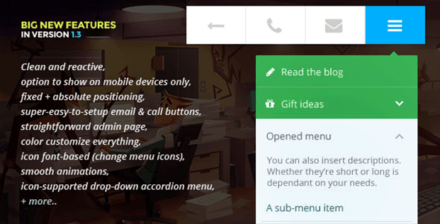 Big new feature - Mobile Menu WordPress Plugin