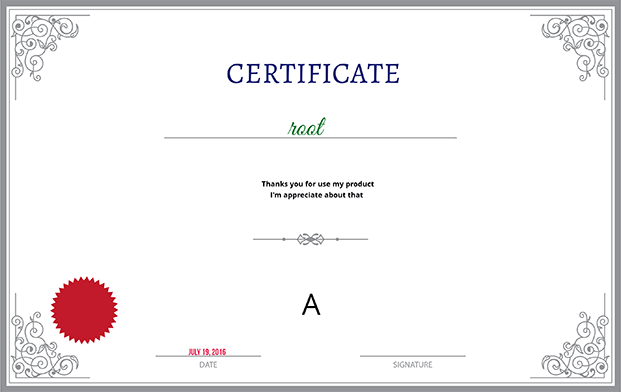 Quizmaker WordPress Plugin - Certificate