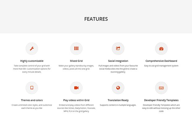 Grid FX WordPress Grid Plugin - Features