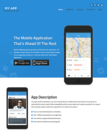 WordPress Mobile App Theme