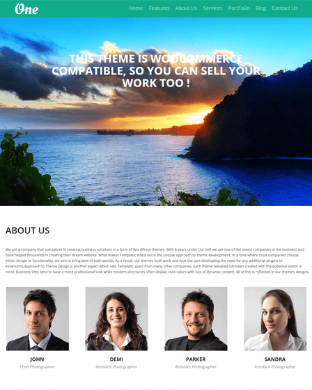 OnePager WordPress Theme