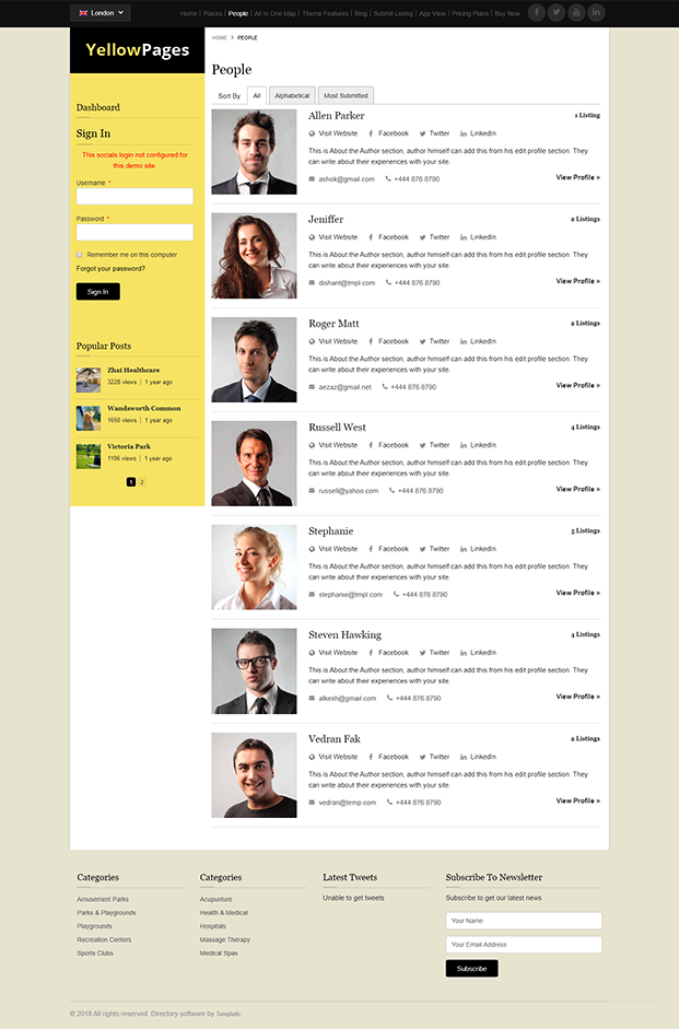 People Category Page