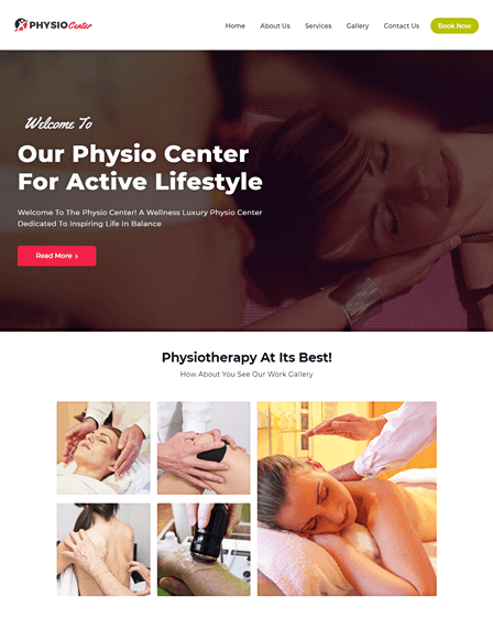 WordPress Physiotherapy Theme