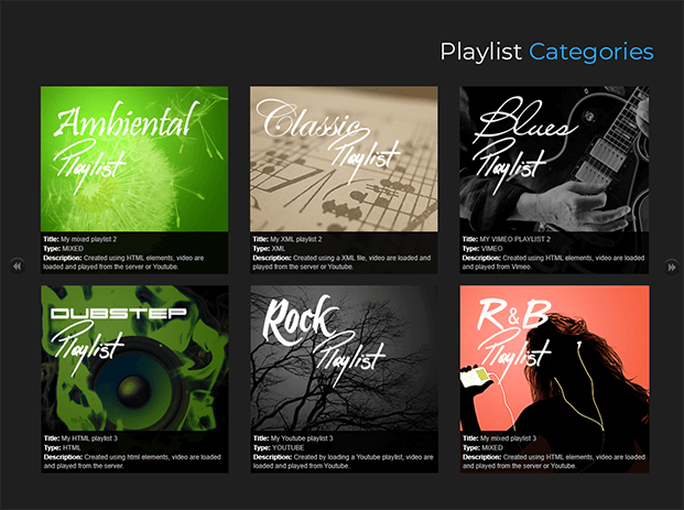 Playlist Categories